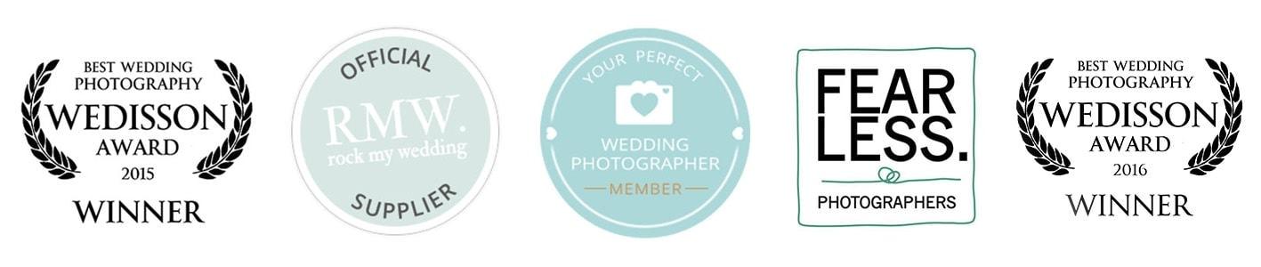 Awards & Listings for Midlands Wedding Photographer