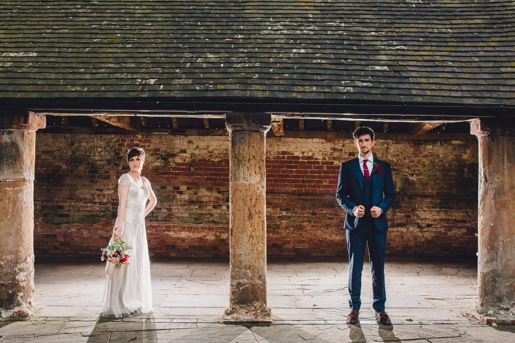 creative wedding portrait