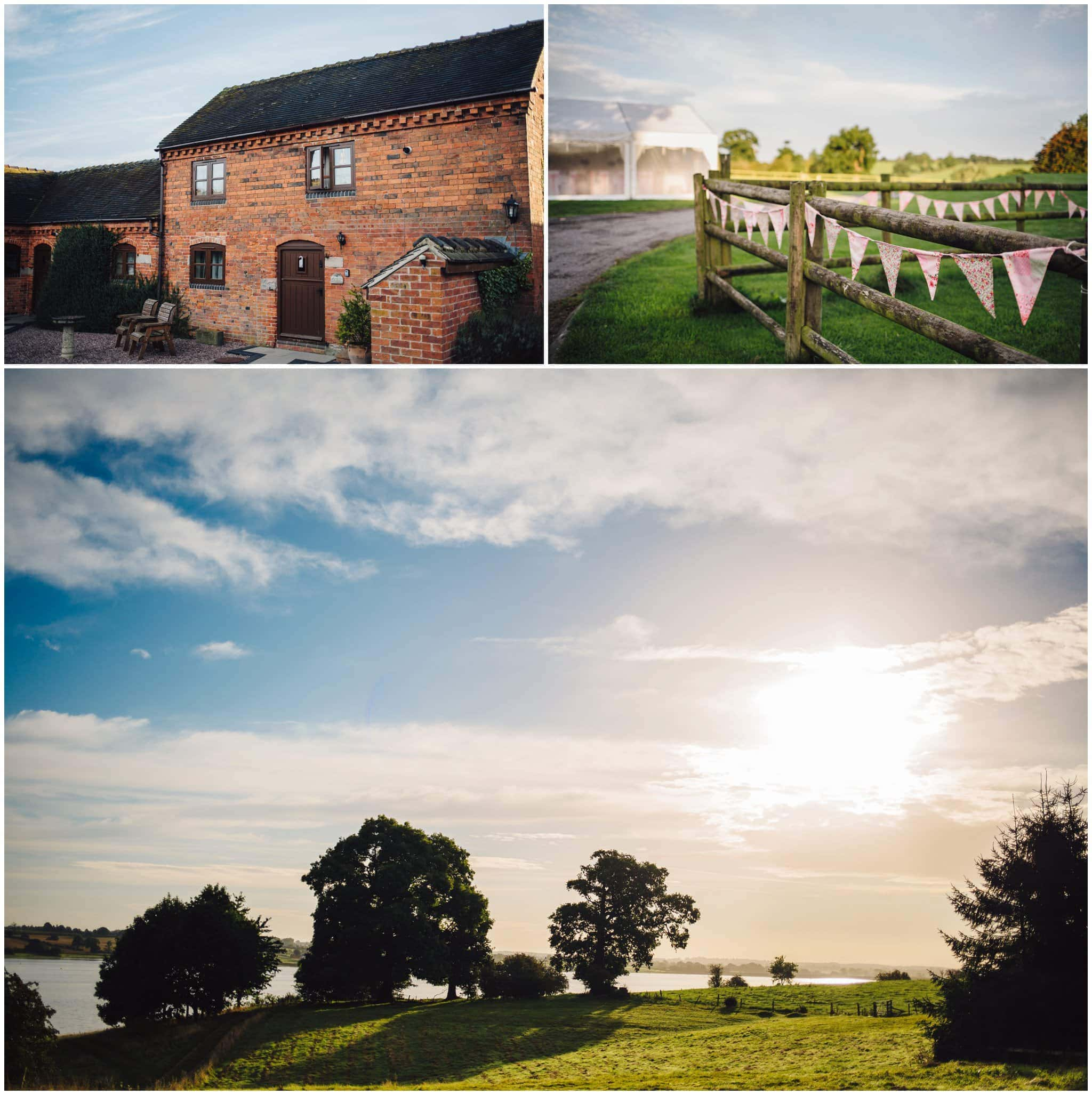 blithfield lakeside barns wedding photographer