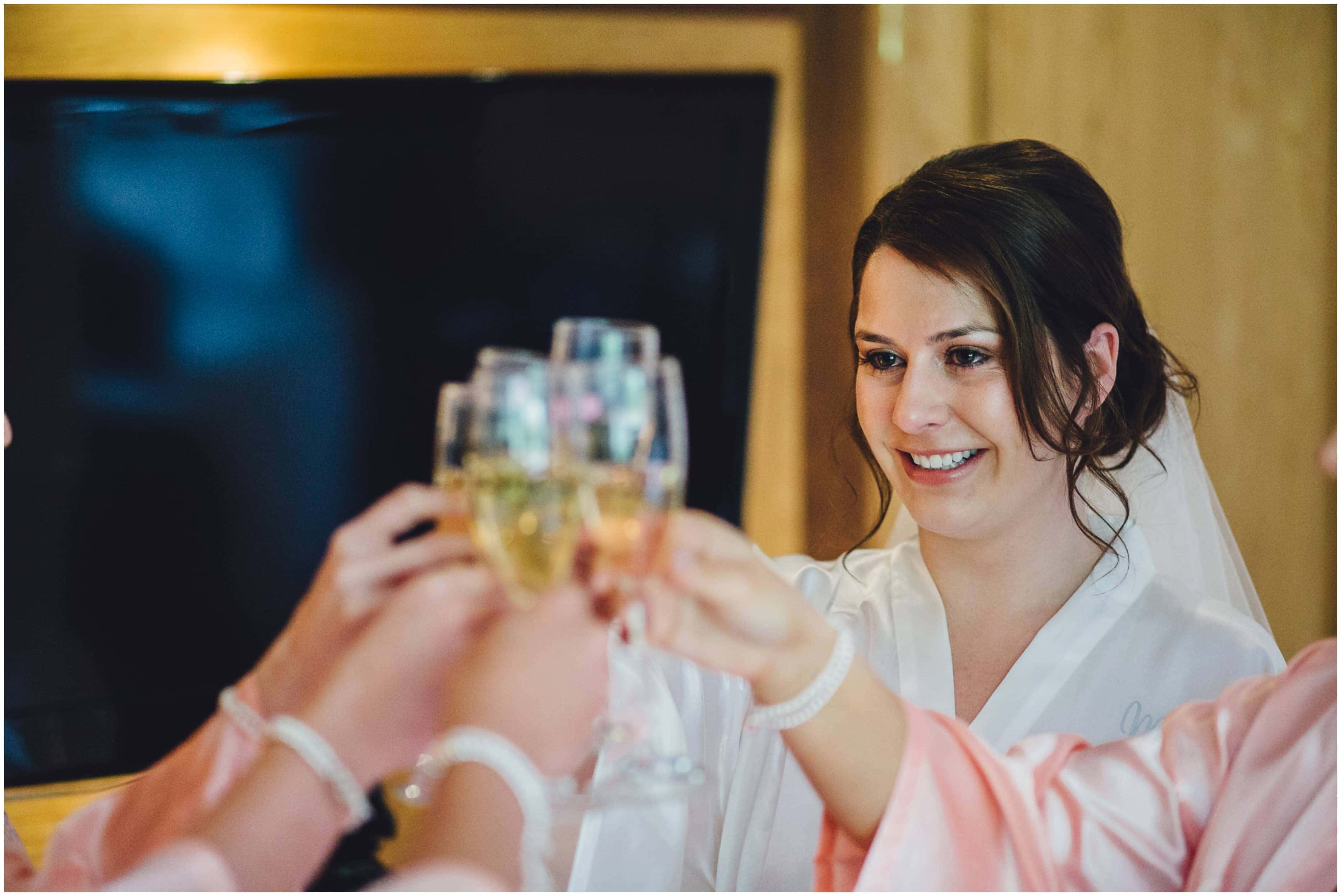 Bordesley Park Wedding Photographer - Raising a toast