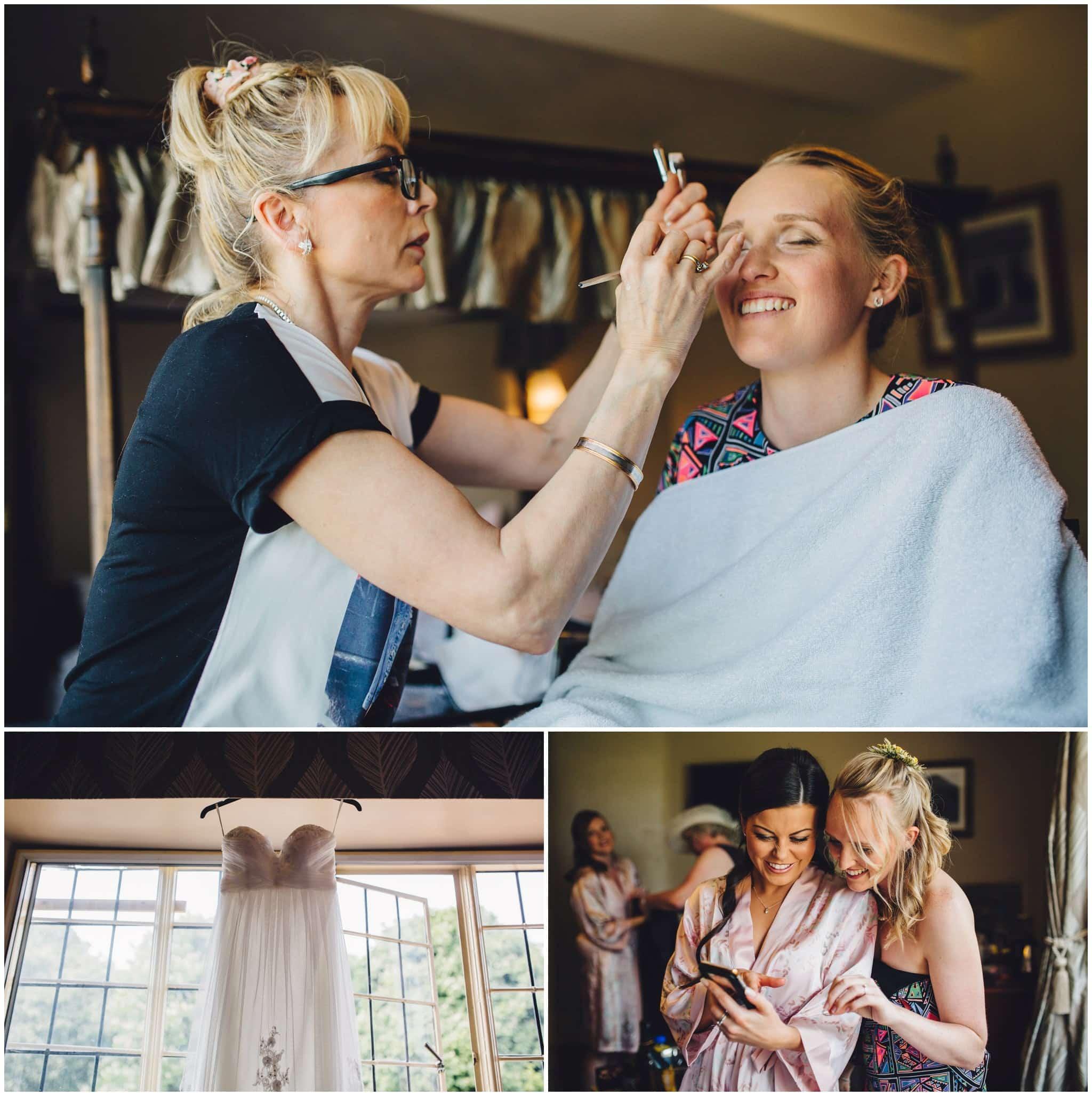 Dovecote Barn Wedding Photography brides makeup