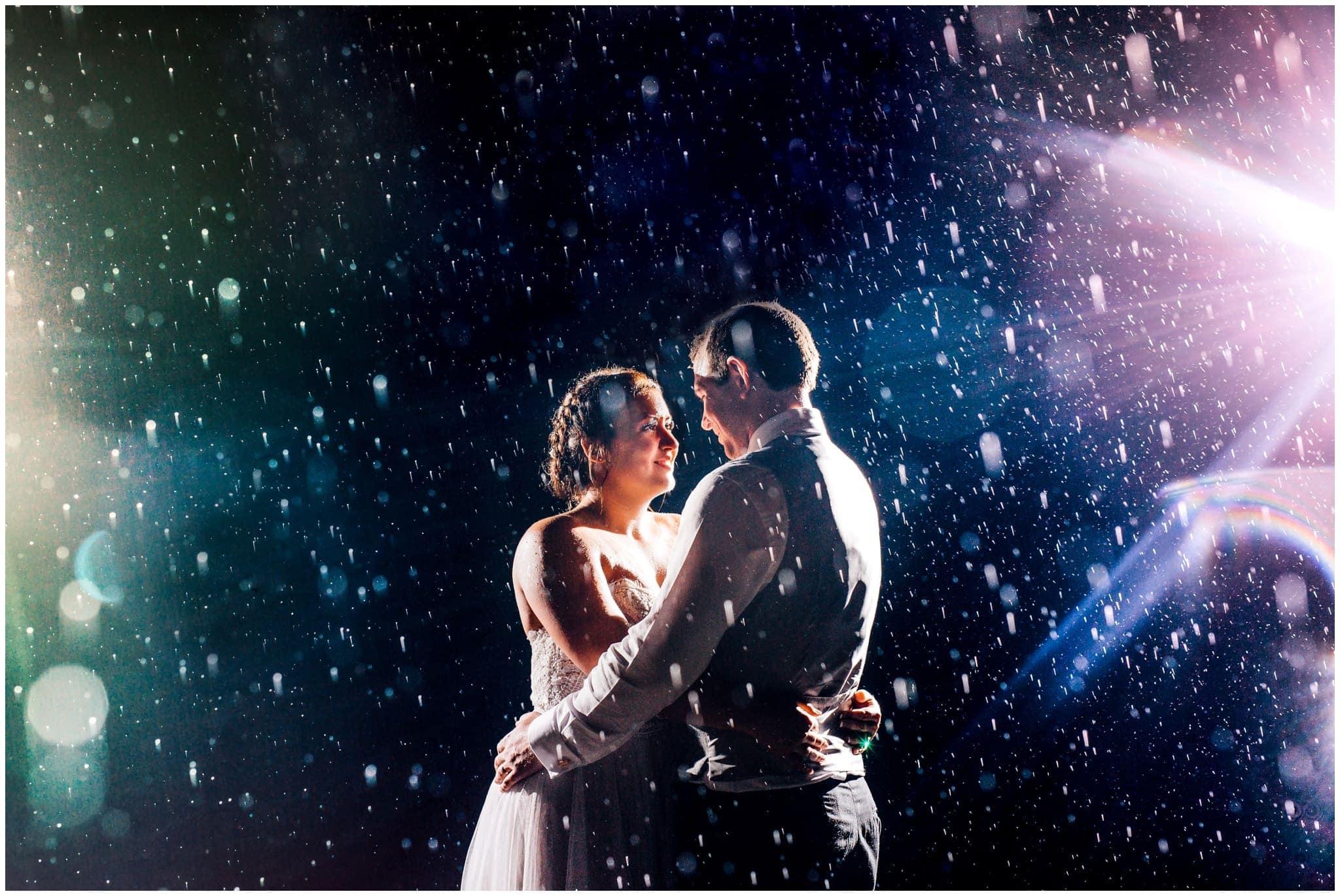 Epic Rain Wedding Photography