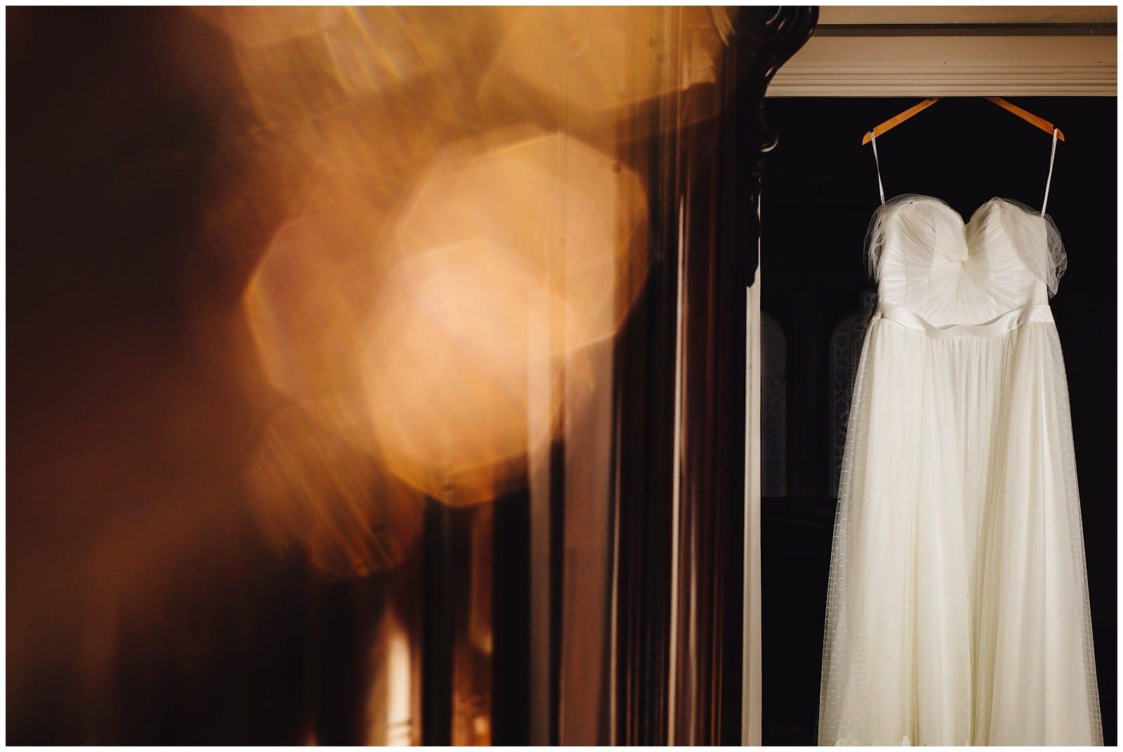 wedding dress at walton hall