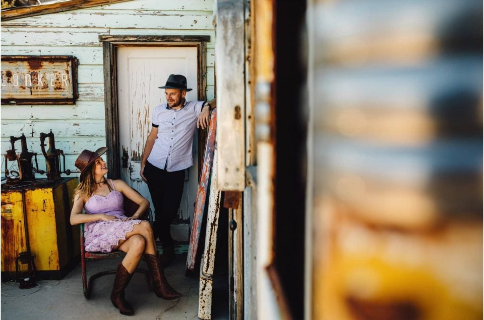 Las Vegas, Nelson's Ghost Town Engagement Photoshoot
