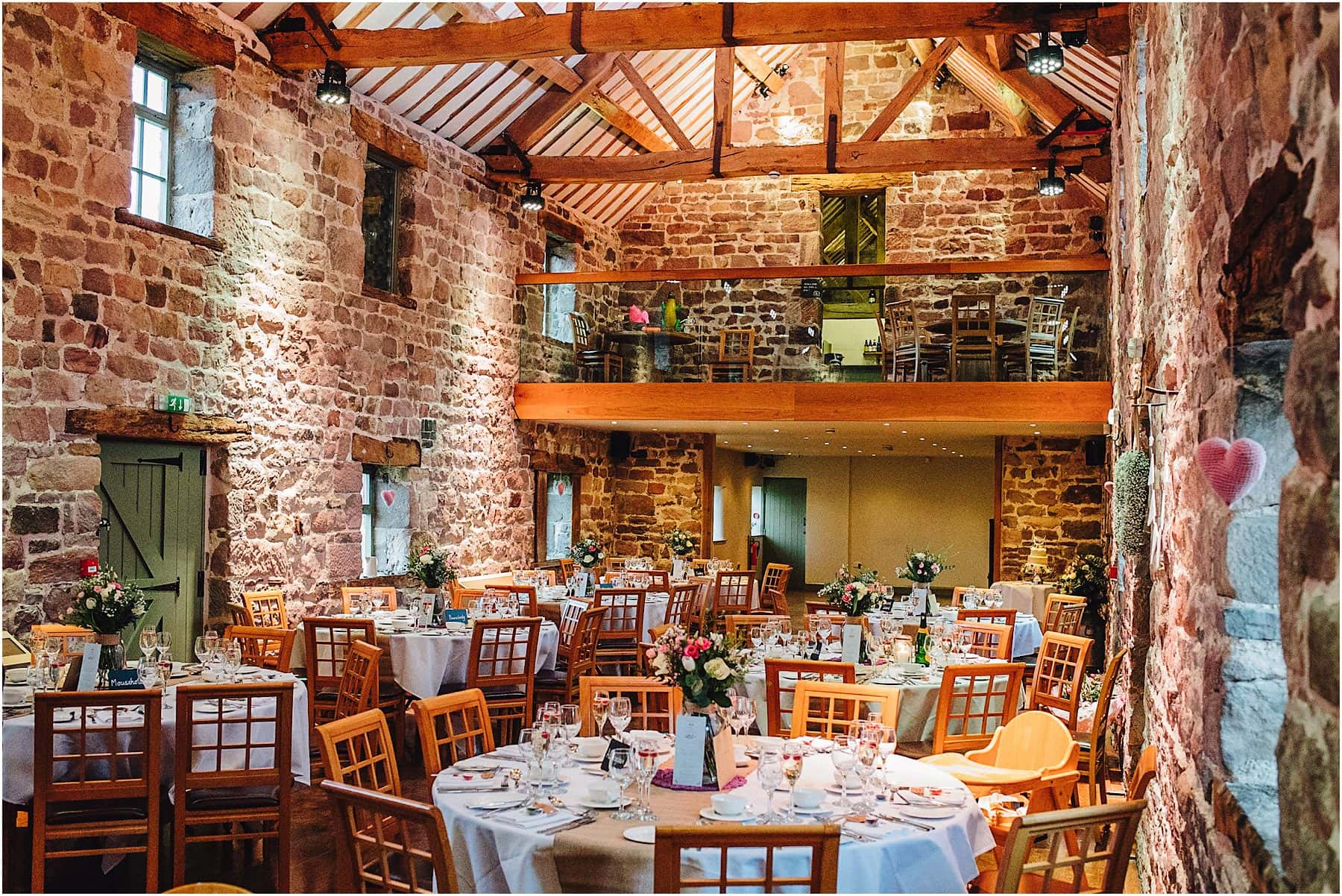 the wedding reception barn at The Ashes Wedding Venue