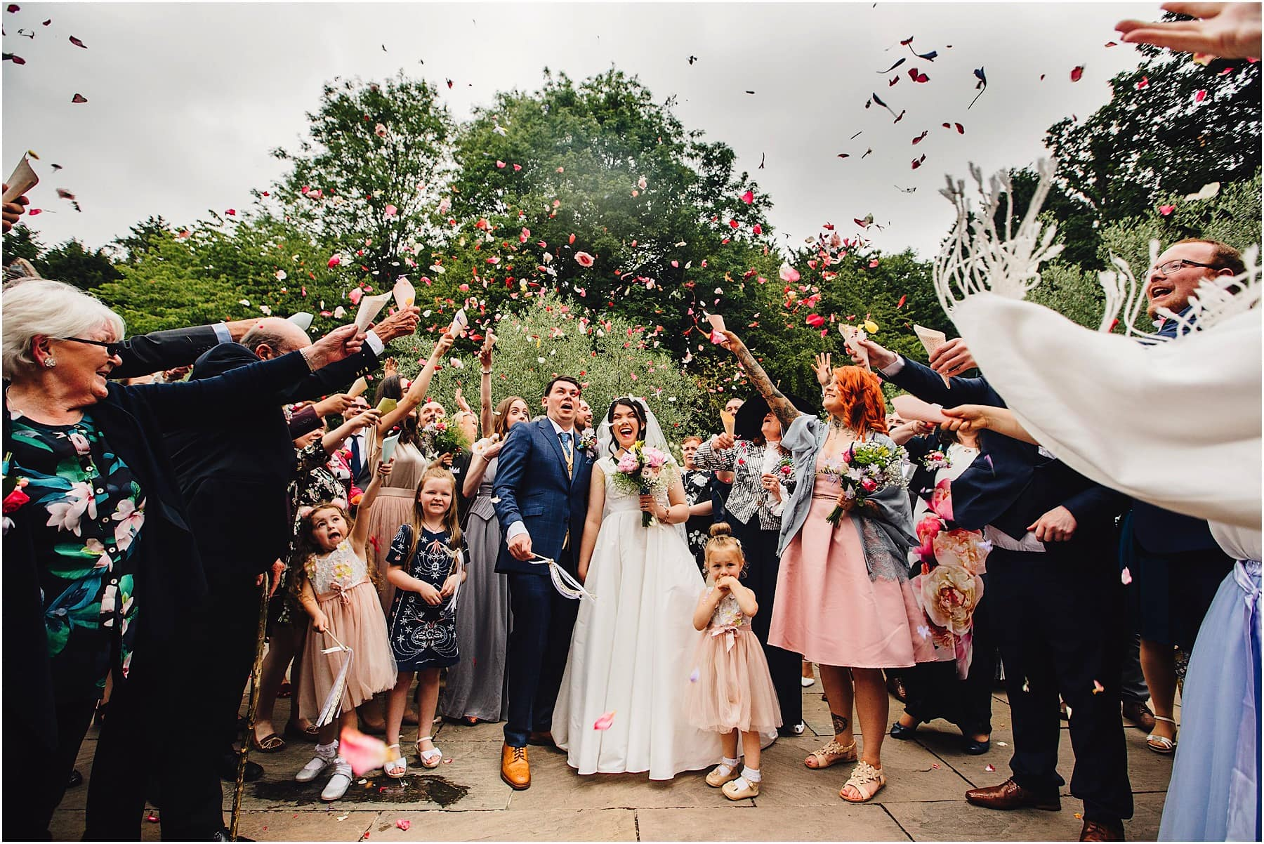 confetti throw at Shustoke barns