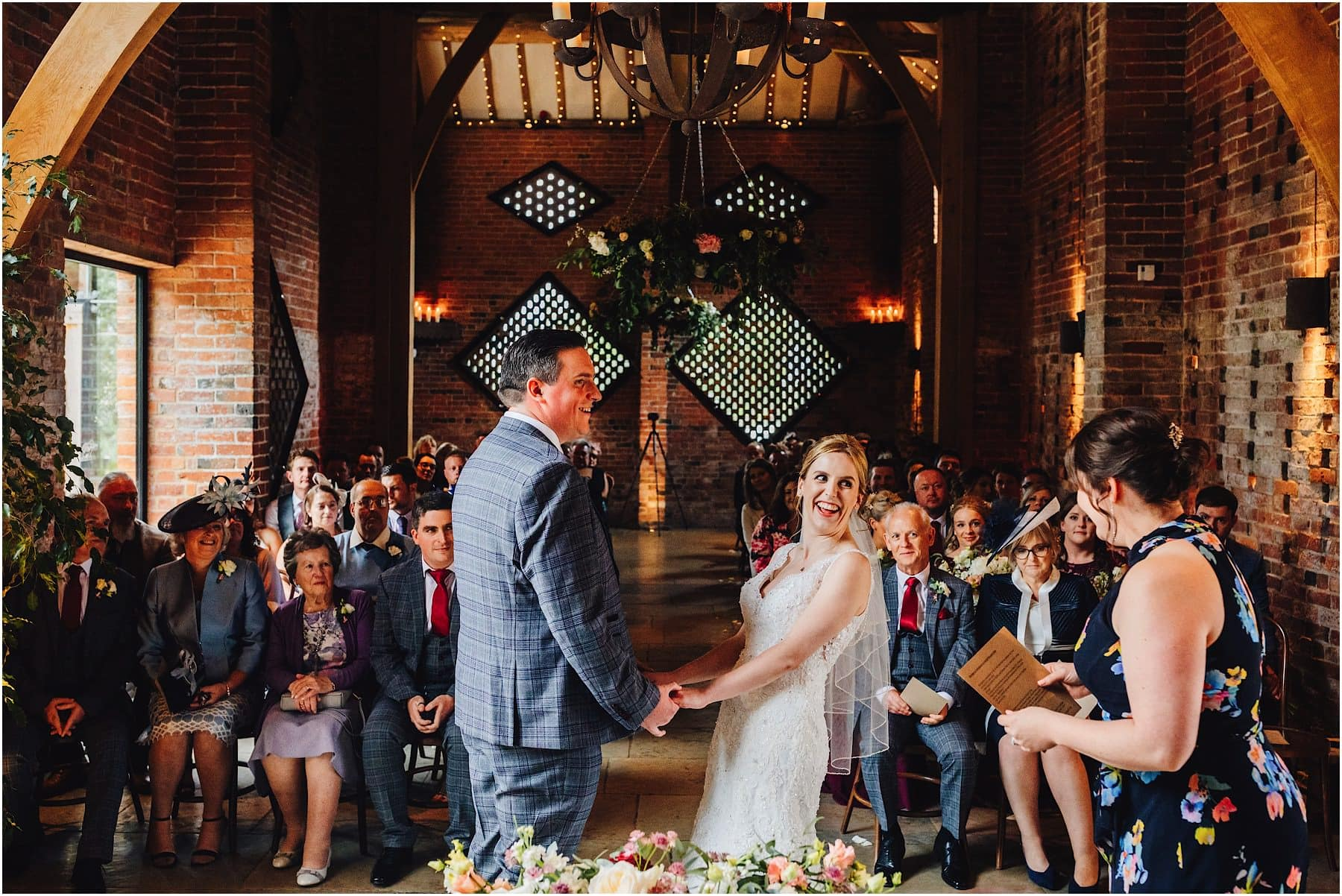 civil ceremony at Shustoke barns