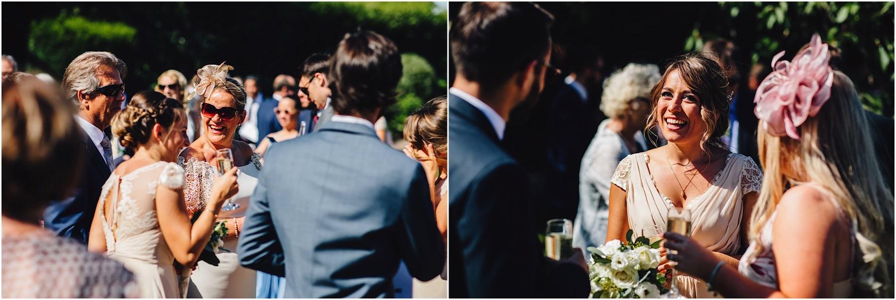 weddings guests having a drink