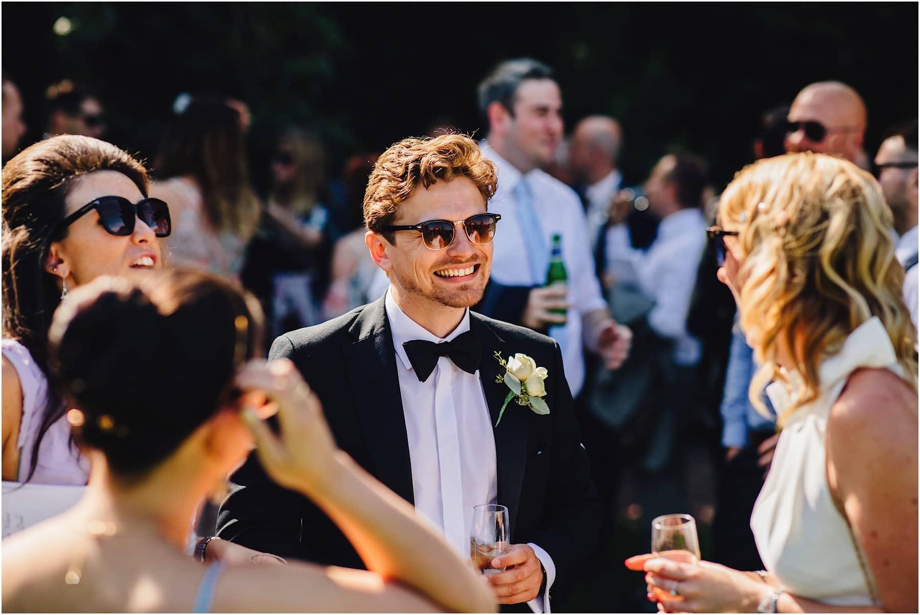 groomsman laughing