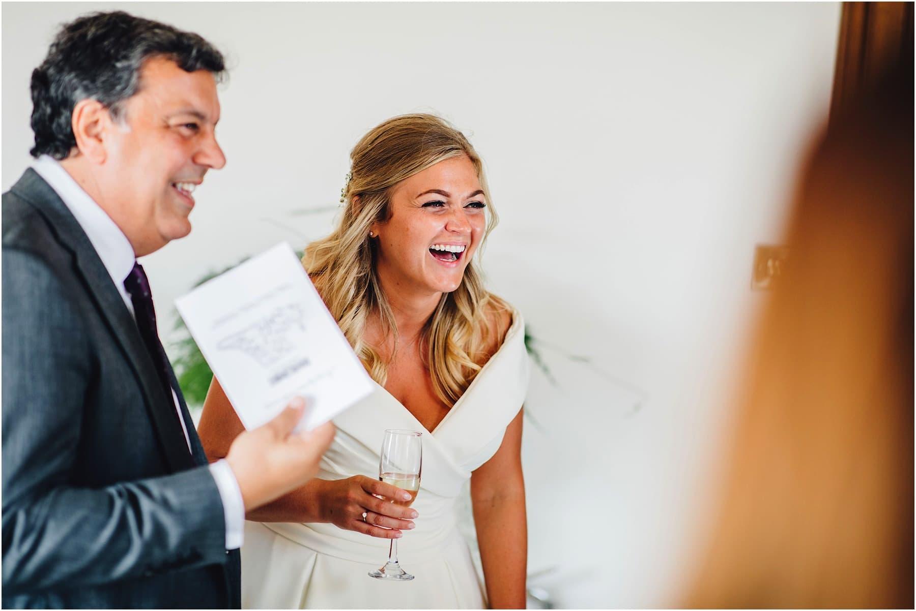 bride laughing hard