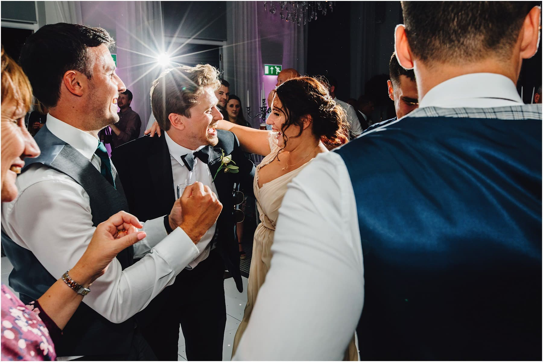 wedding guests enjoying the dance floor