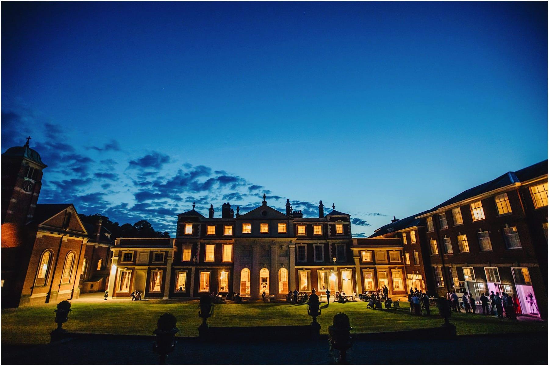 Hawkstone Hall by Night