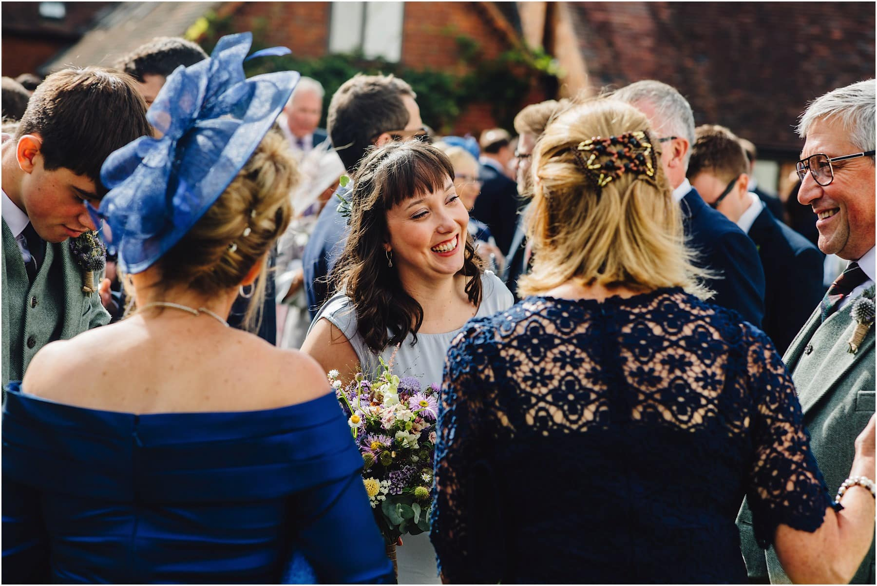 bridesmaid laughing at Worcester wedding