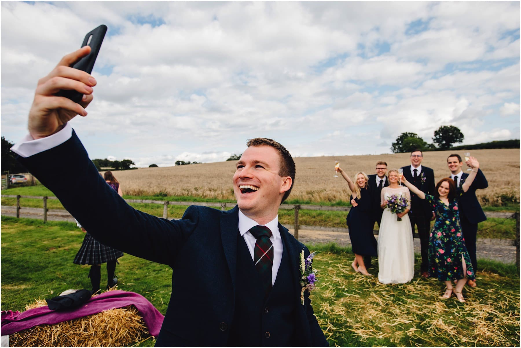 best man doing a selfie