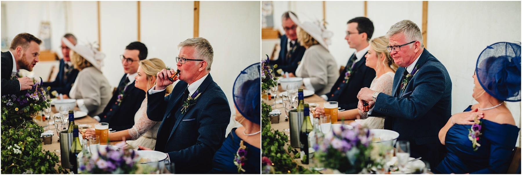 father of the bride having a drink