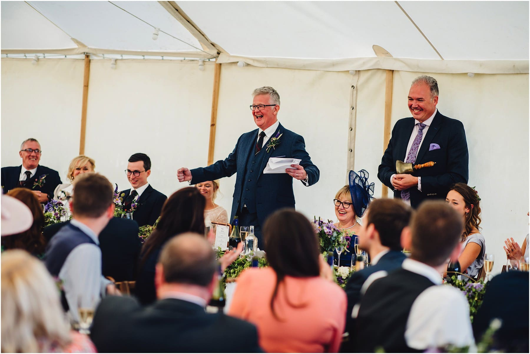 father of the bride delivering his wedding speech