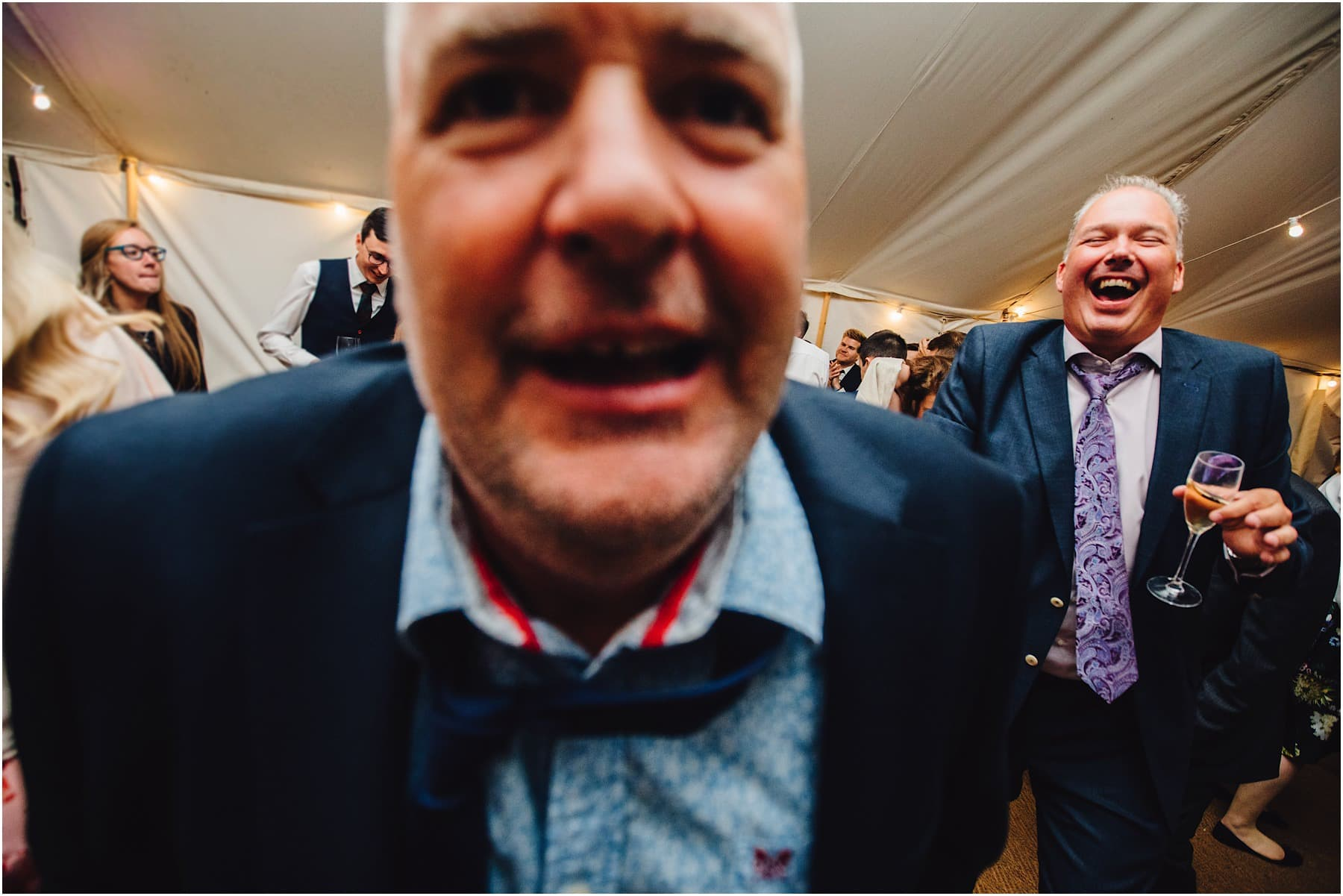 wedding guests acting funny on the dance floor