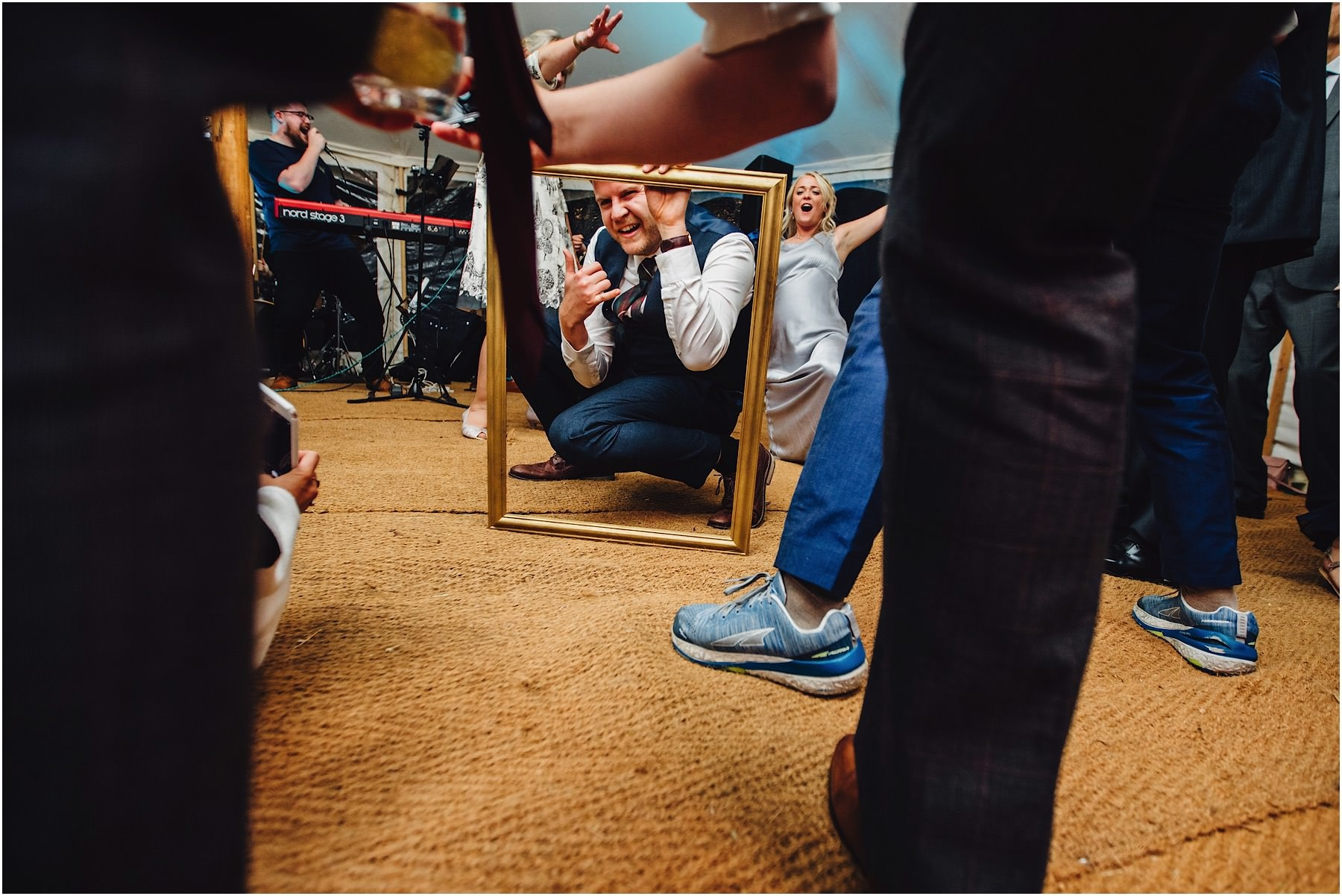 picture frame on the dance floor