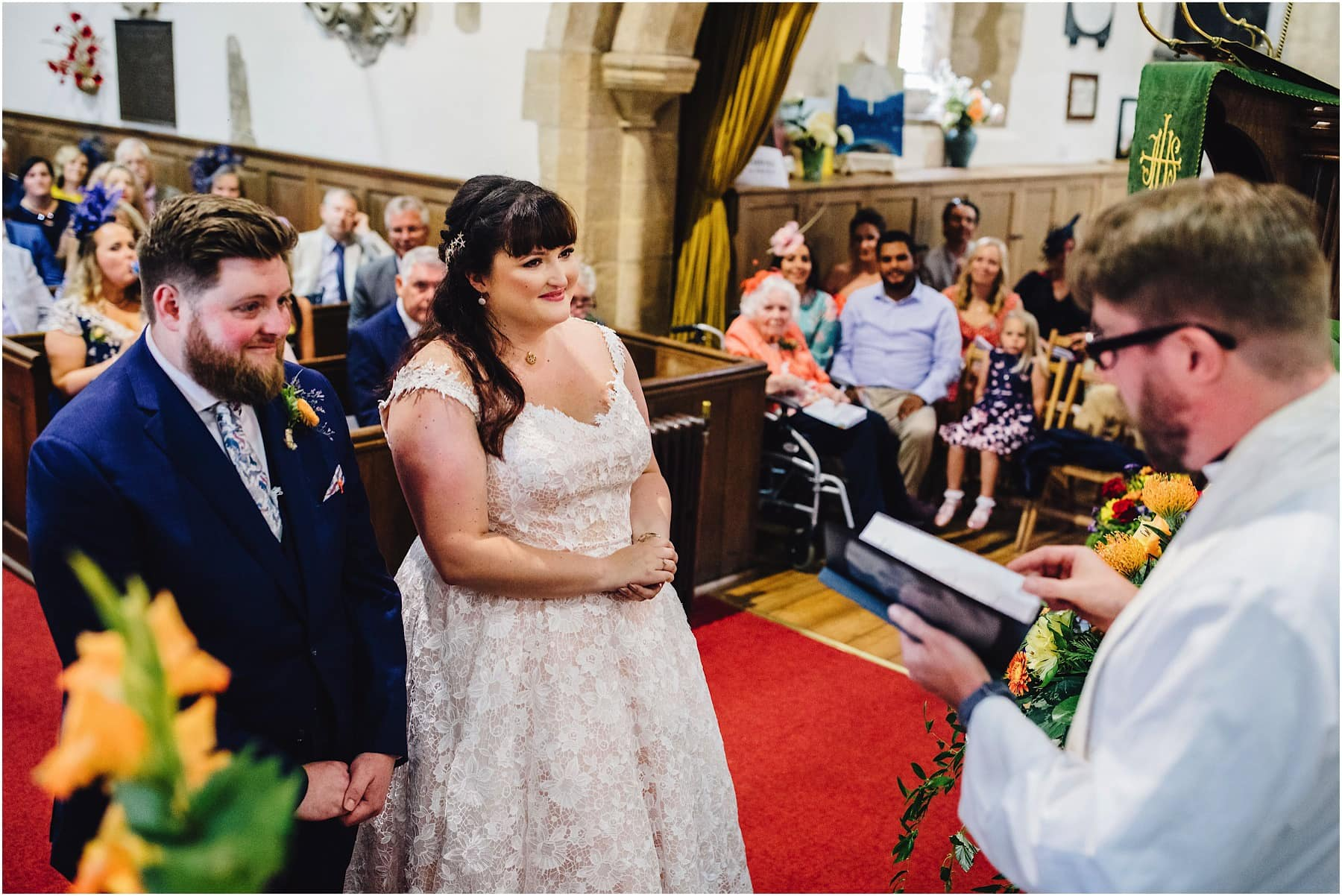 vicar delivering wedding ceremony