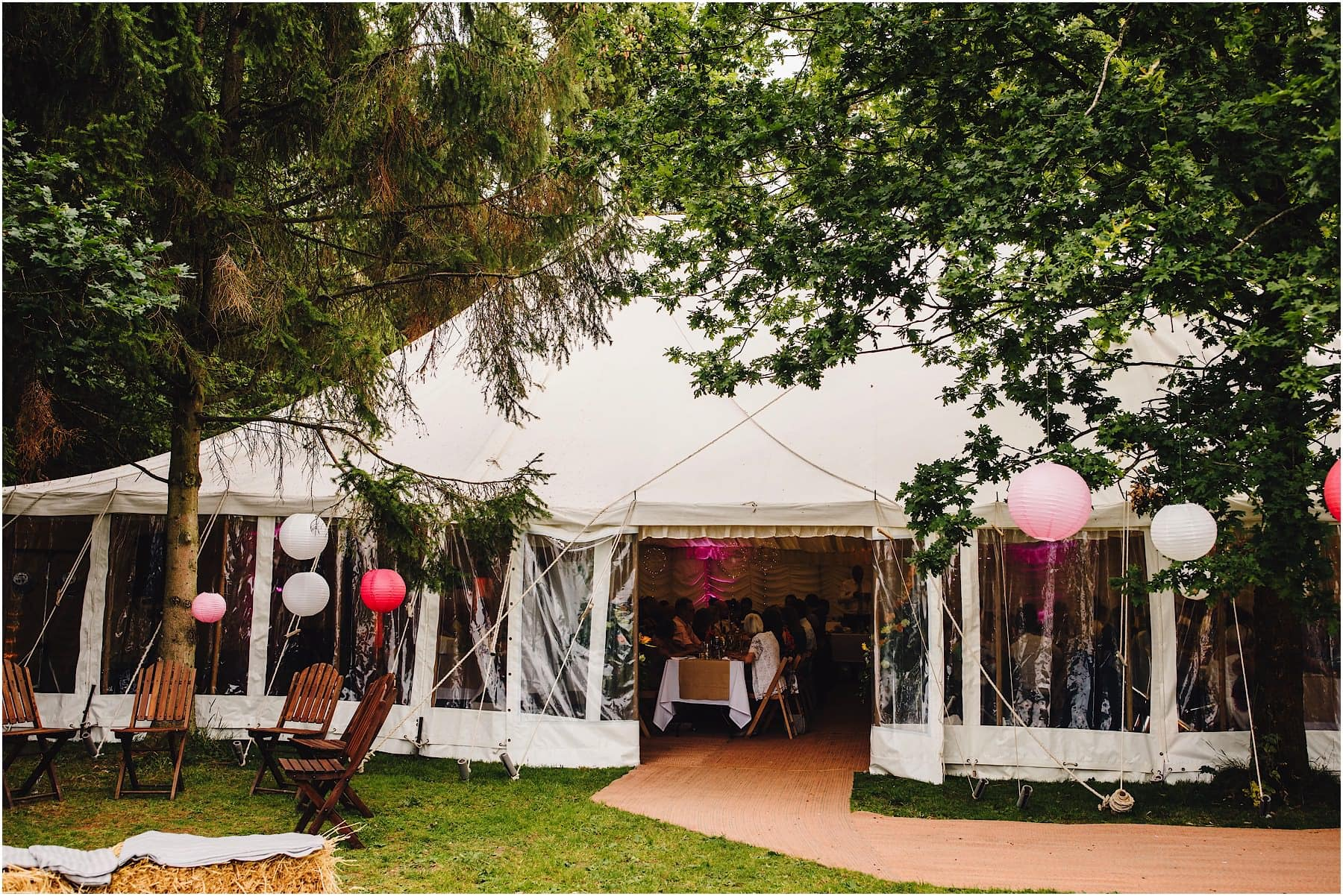 wedding marquee at Lenches Lakes