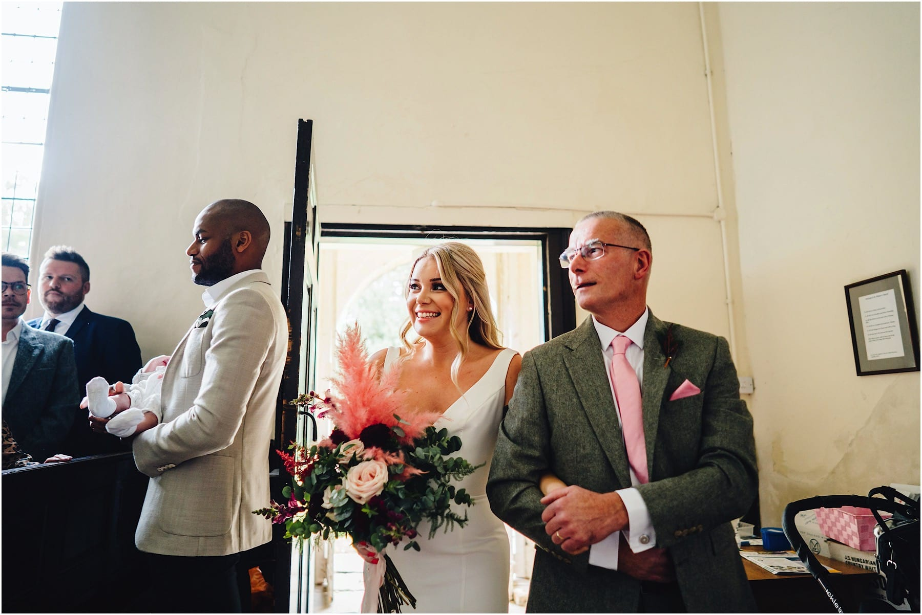 bride entering the church
