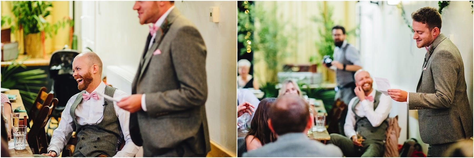 best man gives his wedding speech