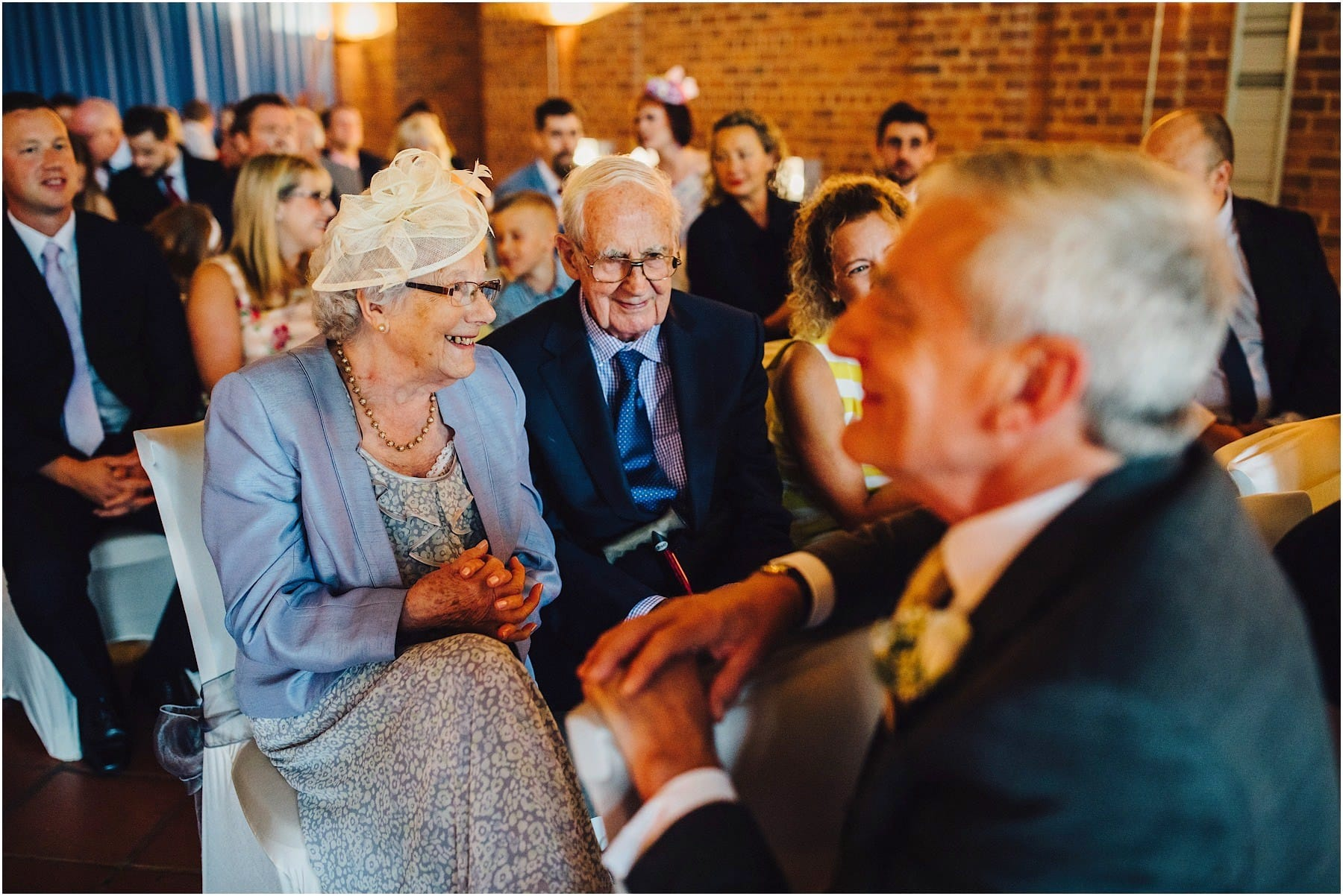 grandparents at wedding ceremony