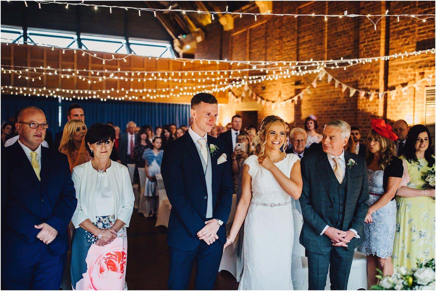 wedding ceremony at Avoncroft