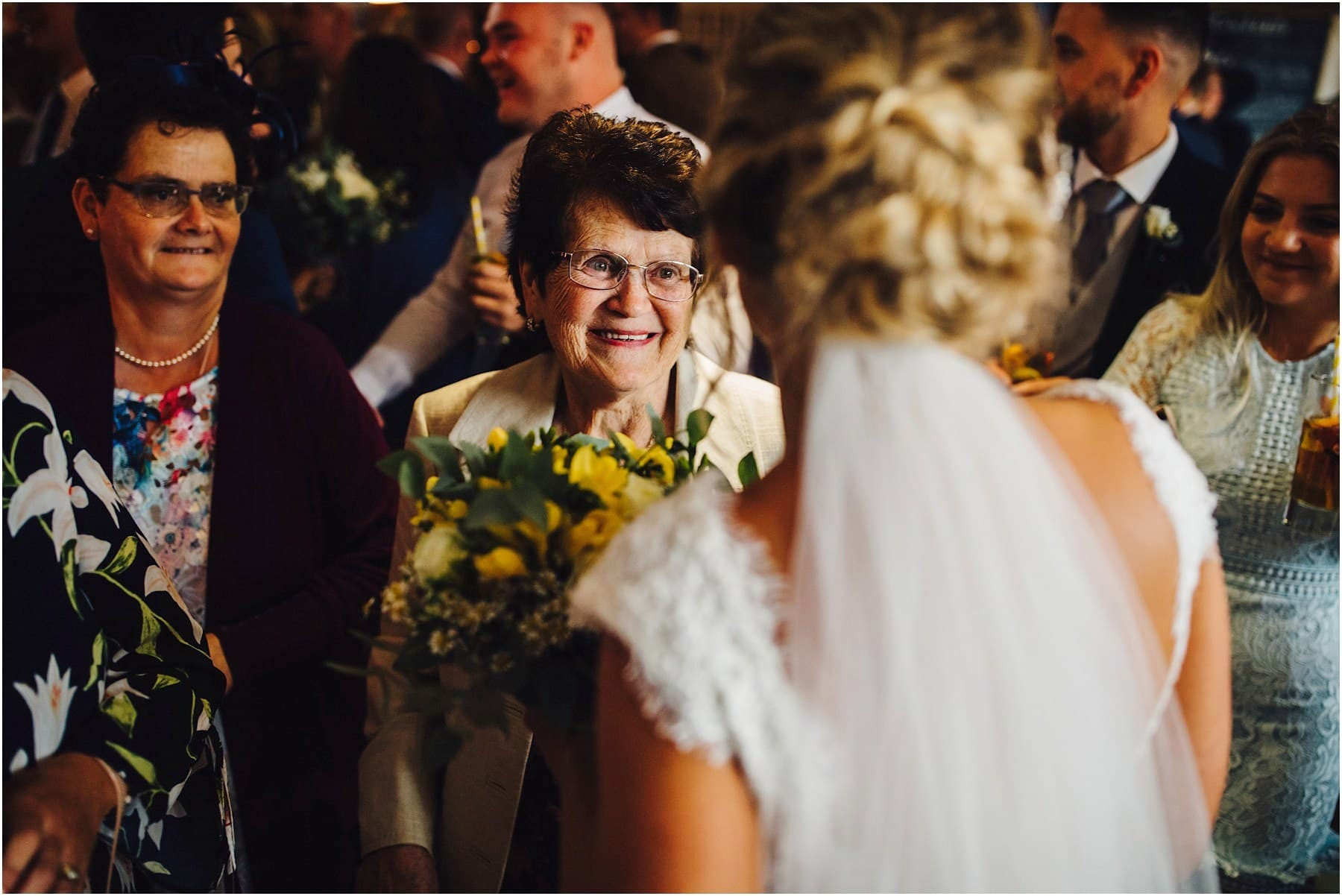 bride talking with her grandma