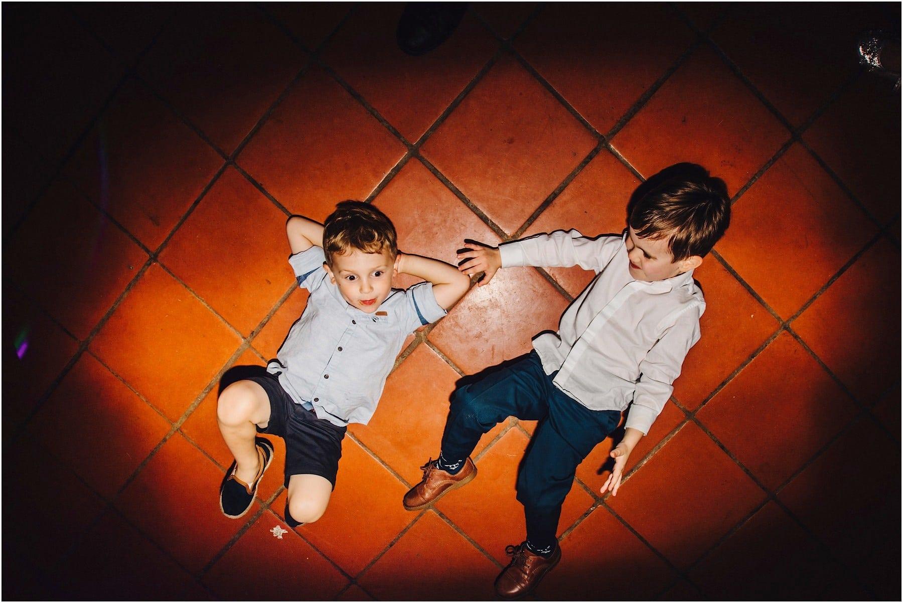 children on the wedding dance floor