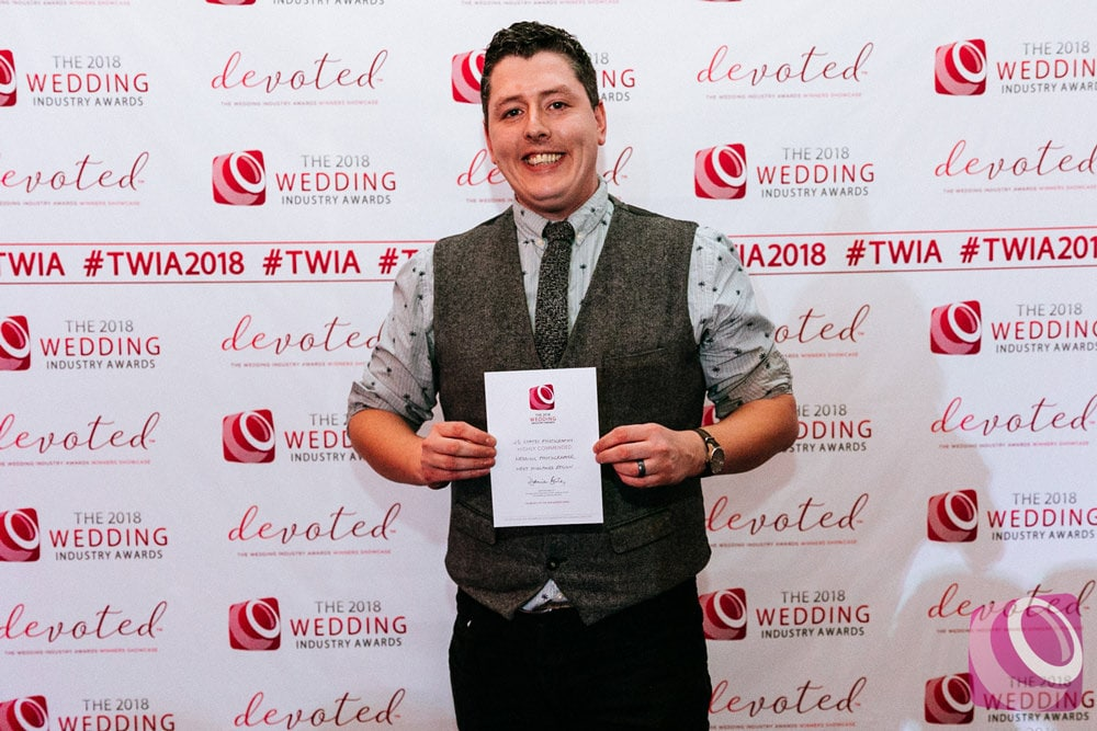 Highly commended at the wedding industry awards