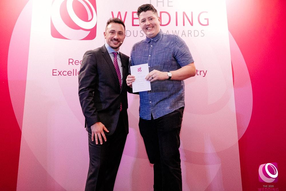 Jonathan Coates winning TWIA award